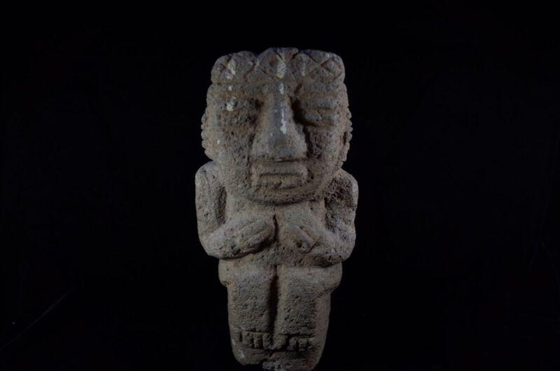 Pre-Columbian MesoAmerican Large Stone Figure