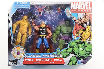Marvel Universe, Classic Avengers, 3 Pack Toy Figure Set, Hasbro