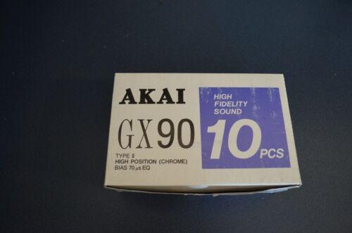 Brand new box of 10 Akai gx 90 type iv cassette tapes
