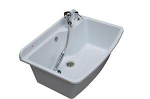 Tough Sink MAXIMUS white granite - laundry,utility, industrial,garage,kitchen-