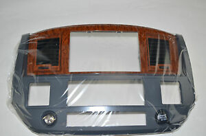 Dodge Ram 1500 2500 3500 06-10 Wood grain Center Console Bezel 5JZ121DHAC Nav