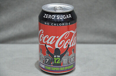 "Coca Cola Zero Sugar ""Be the 12th"" 2019 Premier League Promotion 330ml FULL Can"