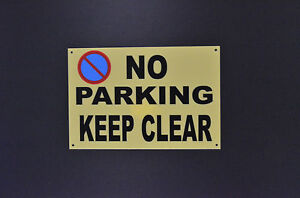 No Parking Keep Clear Sticker Plastic Metal Sign 230x155 Weatherproof Access Car