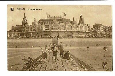 CPA-Carte postale-Belgique- Oostende-Kursaal de face et le brise lame VM2761