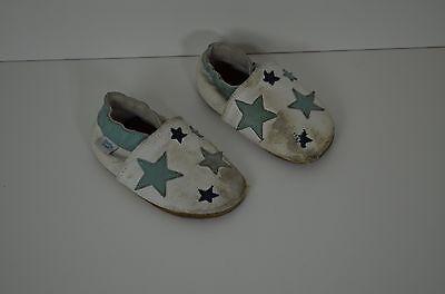 Baby Leder Moccasins Sneaker Schuhe Hausschuhe Kidz Gr 22 Dotty Fish Mokkasins