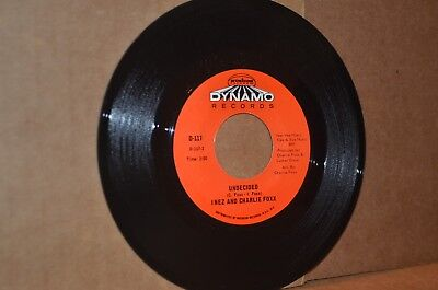 INEZ AND CHARLIE FOXX: UNDECIDED & I AIN'T GOING FOR THAT MINT- NORTHERN SOUL 45