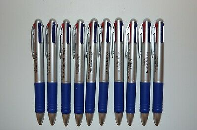 25 Misprint Retractable 4-color Ink Plastic Ballpoint Pens With Clip
