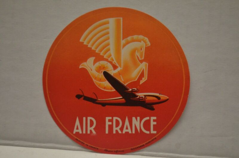 Vintage Air France Luggage Label