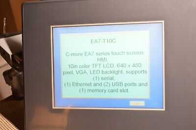Automation Direct Ea7-t10c Operator Interface Touch Screen Hmi