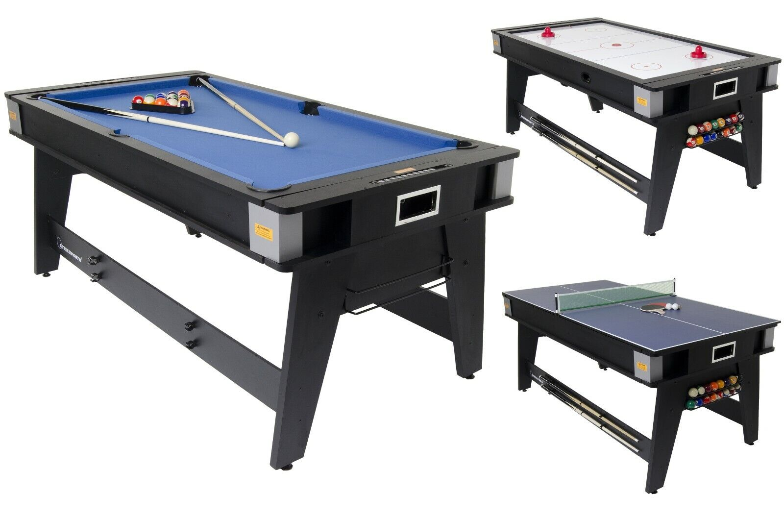 multi games table . pool,air hockey,and table tennis 6foot very good condition