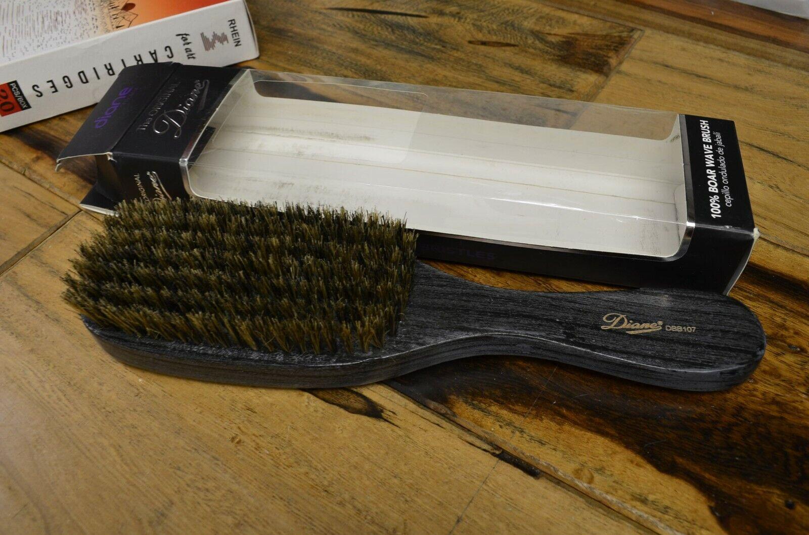 "Diane #DBB107 Wave Brush 100% Boar 7-row 9"" long Wood Handle"