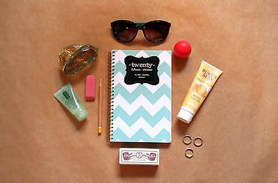 2015 2016 School Planner Calendar Datebook Notebook Journal Book  Mint Chevron
