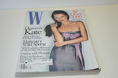 1999 W Magazine Kate Moss Cover Fashion Perfume Fur Watch Moss Ad Ads
