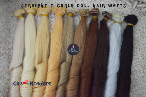 Synthetic Straight & Curly Doll hair weft Blythe Monster High My Little Pony