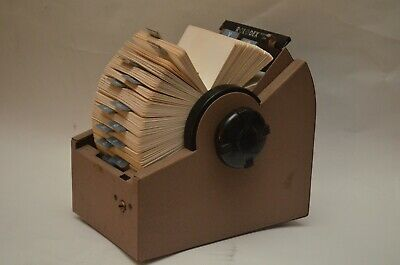 Vintage Heavy Metal Rotary Spinning Rolodex 2254 Wunused Cards Dividers