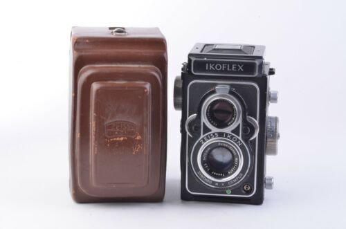 EXC++ ZEISS IKON IKOFLEX 120 TLR CAMERA w/OPTON TESSAR 75mm F3.5, CASE, NICE!