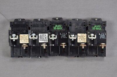 Pushmatic Pushmatic Bulldog P115 15 Amp 1 Pole Circuit Breakers - Lot Of 5