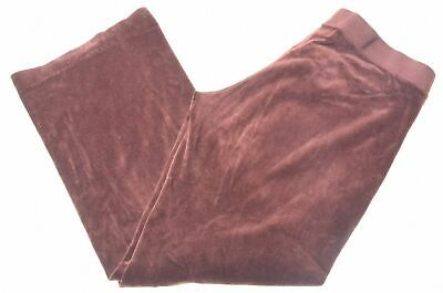 JUICY COUTURE Womens Velvet Tracksuit Trousers Large Brown Cotton  BR08