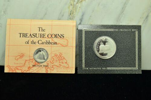 1985 Treasure Coins Of The Caribbean $20 British Virgin Islands -Bronze Bell