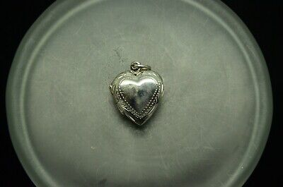 925 STERLING SILVER SMALL PUFFED HEART LOCKET PENDANT CHARM  #X23941 ()