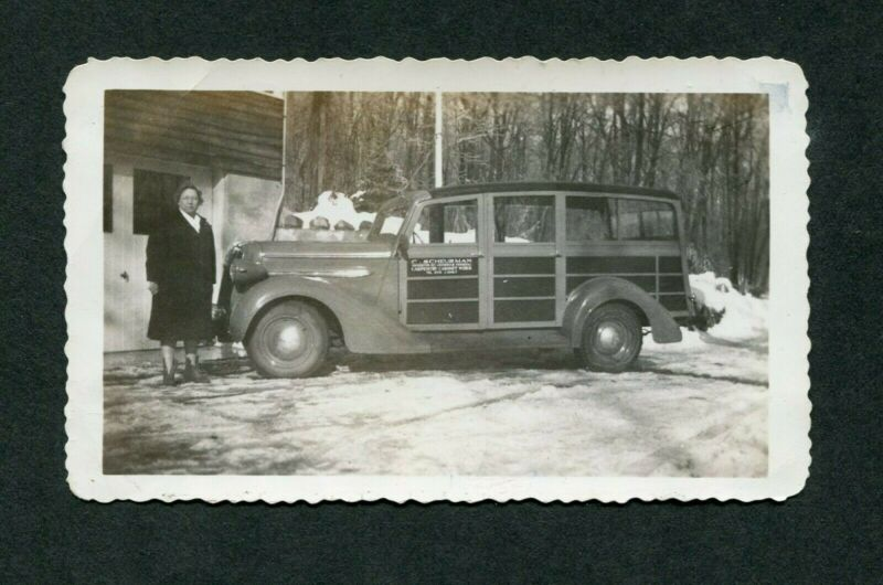 Vintage Car Photo 1937 Plymouth Woodie Wagon 397095