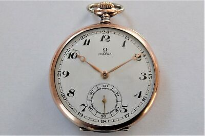 1900 GOLD & SILVER CASED OMEGA 15 JEWELLED SWISS LEVER POCKET WATCH WORKING