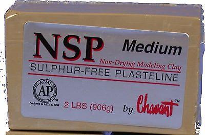 Chavant NSP Non-Drying Modeling Clay - Medium  -Tan - sculpting modeling