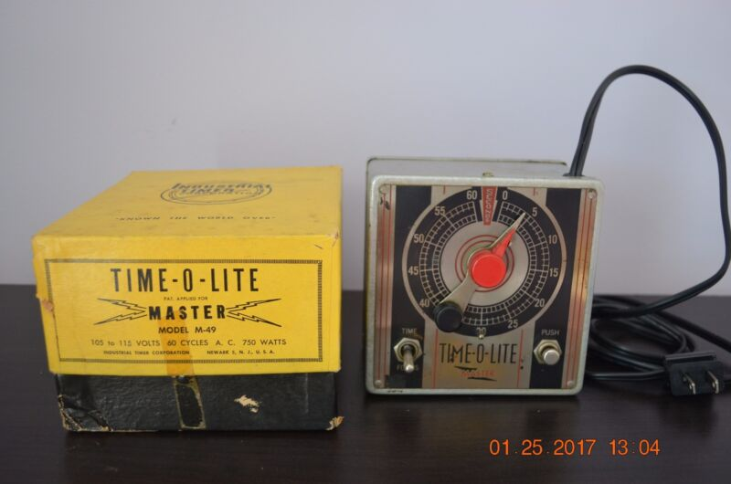 Photographic Timer, Time-O-Lite Master Model M-49, Vintage, In Original Box.