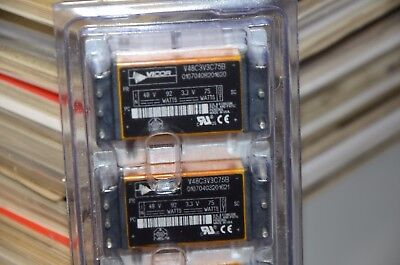 Vicor 48 Volt 92 Watt 3 3 Volt 75 Watt V48c3v3c75b Isolated Dc To Dc Converter