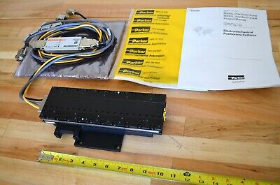 New Parker Mx80l Linear Servo Motor Actuator Stage 200mm Travel 0.01um Encoder