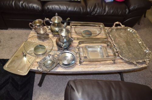 Vintage Silver Plated Mixed Assorted Items Lot