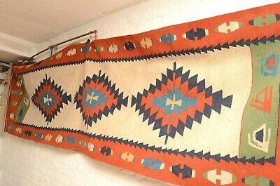 "Anatolia Turkish Kilim Runner Rug Carpet Runner 33""X117"" Hallway Rug Corridor  for sale  Shipping to South Africa"