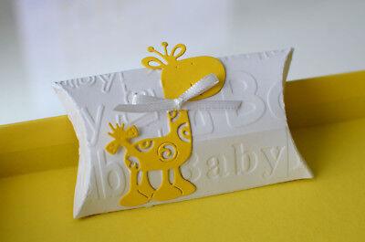 Gastgeschenke Geschenkbox Baby Taufe Geburt Gelb Babyparty Kindergeburtstag