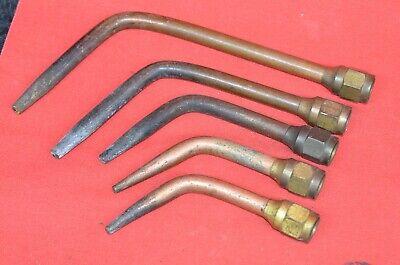 Vintage Brazing Welding Torch Tip Set- Sizes 00 0 3 5 7 Victor National Oxweld