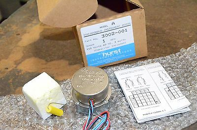 Hurst Synchronous Motor 3002-001 1 Rpm 3 Watt New With Capacitor