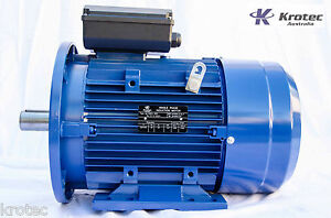 Electric Motor Single Phase 240v 5 5kw 7hp 1460 Rpm Flange