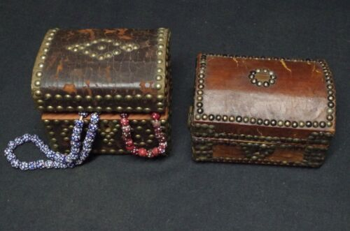 2 Jewelry boxes - Americana- 1870-1890 ca.