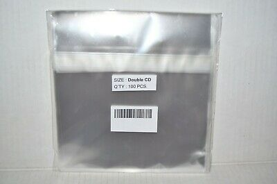 100 Double 2-disc Cd Jewel Cases Shrink Wrap Plastic Bags Sleeves Playstation 1