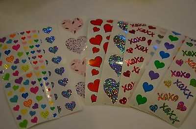 Mrs. Grossman Heart Stickers You Choose Love Hugs Kisses - Scrapbook Stickers