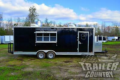 New 2020 8.5x24 Enclosed Mobile Concession Kitchen Food Bbq Vending Trailer