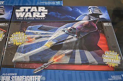 Star Wars The Clone Wars Plo Koon's Jedi Starfighter NIB Rare - Star Wars The Clone Wars Plo Koon