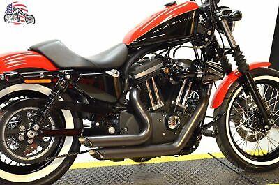 Black Staggered Shortshots Short Shots Exhaust Drag Pipes Harley Sportster 14+