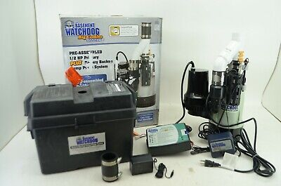 Basement Watchdog Bw4000 12 Hp Primary And Back Up Sump Pump System Read
