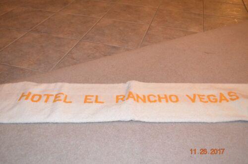 HOTEL EL RANCHO VEGAS TOWEL - RARE