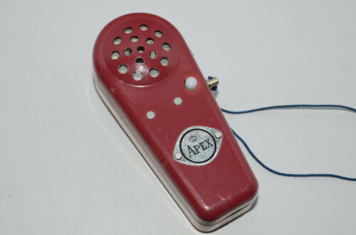 Vintage Apex Crown Horn Personal Alarm Noise Buzzer Red - Working