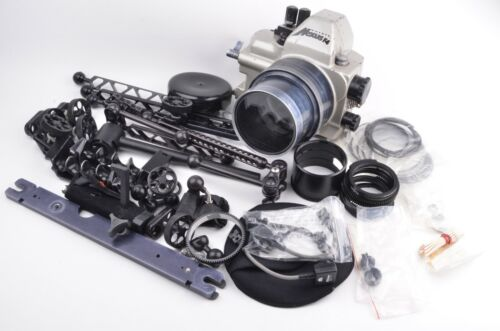 ANTHIS NEXUS UNDERWATER HOUSING FOR NIKON F4 w/MANY RAILS, ACCESSORIES, O-RINGS