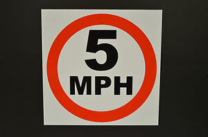 5 MPH sign ALL SIZES , Plastic & Holed . FREE POST road parking traffic speed