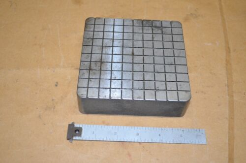 """Nice Heavy 5"""" Lapping Plate Surface Lap 5"""" x 5"""" x 1-1/2"""" Thick"""