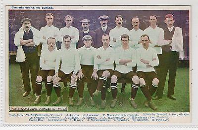 PORT GLASGOW ATHLETIC FC: Football postcard (C3792).