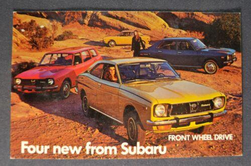 1973-1974 Subaru Postcard Brochure Sedan Wagon GL Coupe Nice Original